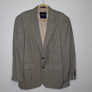NAUTICA Men's Blazer Silk & Wool Houndstooth Suit